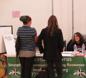 HCC booth at career fair