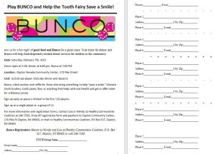 bunco form and poster
