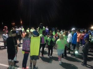 Yerington Stand Tall hosted a glow in the dark night run for the community