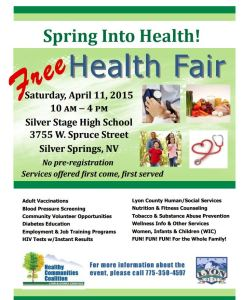 Come to the Health Fair @ 10am, and check out the 5K Walk/Run before at 8am!