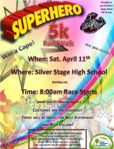 Bring the whole family for the Superhero 5K Walk/Run in Silver Springs, and attend the
