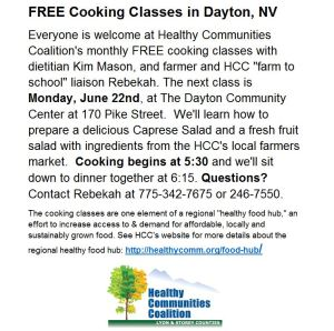 Join us for another free cooking class!