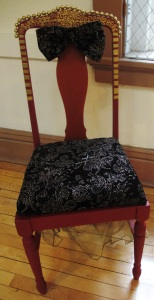 One of the chairs transformed in a joint summer project by teens from Central Lyon Youth Works'