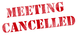 HCC October 2015 Meeting Cancelled