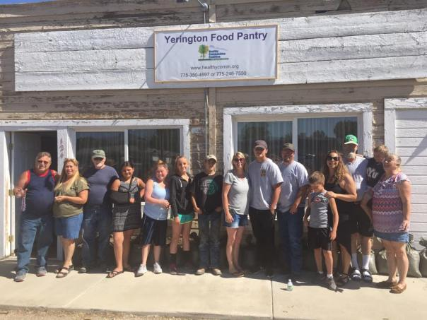 yerington food pantry volunteers june 2017
