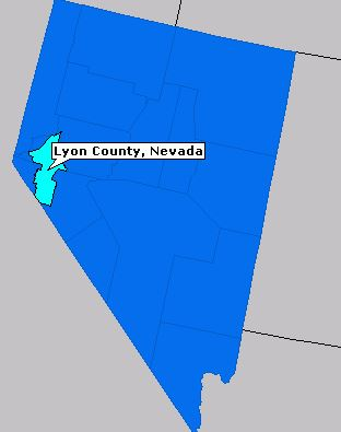 lyon county location in nv