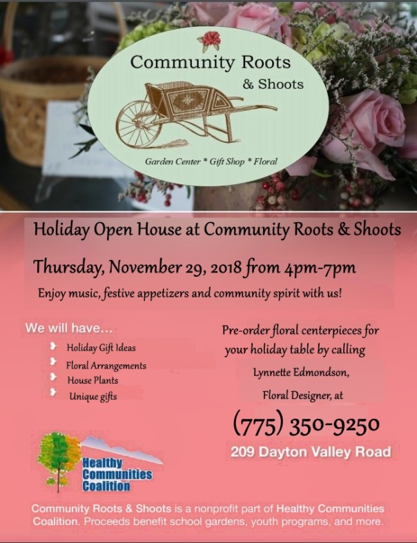 community roots holiday open house 2018