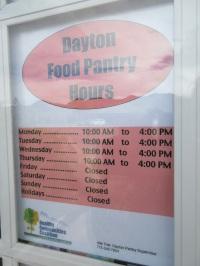 dayton pantry hours