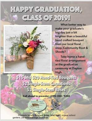 community roots grad bouquets